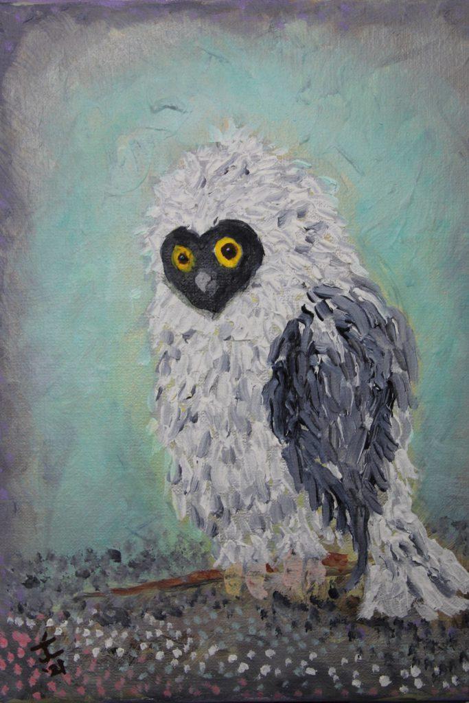 Fluffy!  Oil on Canvas